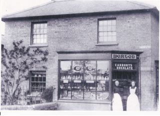 Liz and her mother at Morton Bakery, No.1 Moor End