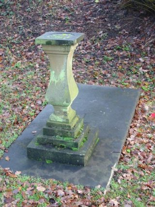 Percy Webster's grave in Leverstock Green Churchyard.  Sadly the sundial's gnomon was stolen a number of years ago | Barbara Chapman