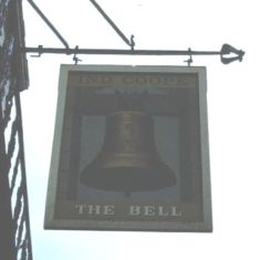 Pub sign outside The Bell public house, Hemel Hempstead   The Dacorum Heritage Trust