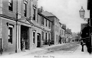 Postcard showing Akeman Street, Tring | Berkhamsted Local History and Museum Society cared for by the Dacorum Heritage Trust
