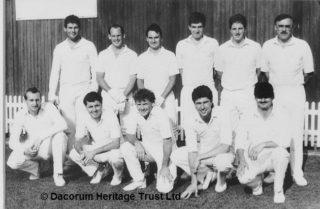 Hemel Hempstead Cricket Club 1st XI, winners of the Gazette Cup in 1989 | Dacorum Heritage Trust