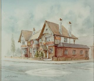 Waggon and Horses, Marlowes, Hemel Hempstead by Len Roberts, just before it was demolished in 1989 | The Dacorum Heritage Trust Ltd