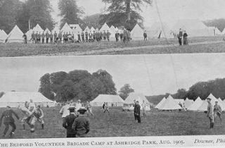 The Bedfordshire Volunteer Brigade Camp at Ashridge Park, August 1905 | The Dacorum Heritage Trust