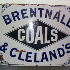 Enamel sign for Brentnall & Cleland coal merchants, Berkhamsted and Hemel Hempstead | The Dacorum Heritage Trust