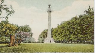 Tinted postcard of Ashridge Monument, Berkhamsted | Dacorum Heritage Trust