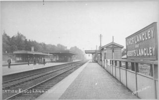View of the Kings Langley Station Platform looking south | The Dacorum Heritage Trust
