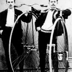 Mr. Westwood and Mr. Stephenson with their 'Pennyfarthing' bicycles | The Dacorum Heritage Trust