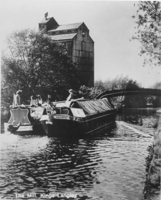 Toovey's Mill, Kings Langley. The canal ensured that raw materials could be delivered in bulk to the mill | The Dacorum Heritage Trust Ltd