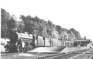 Parcels train leaving Kings Langley Station, 1948 | The Dacorum Heritage Trust