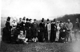 Edward, Prince of Wales (centre) visits Ashridge, December 1887 | Dacorum Heritage Trust