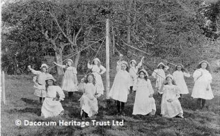 May Day was celebrated at local schools by dances around the maypole and election of the May Queen and her attendants | Dacorum Heritage Trust