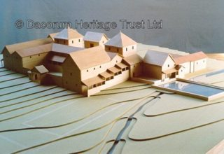 Model of the Gadebridge Roman Villa made by George Rome Innes (2003) | Dacorum Heritage Trust
