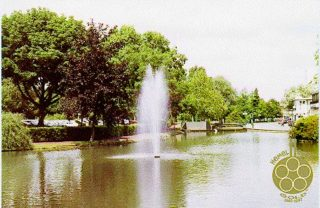 Postcard of The Water Gardens produced to commemorate 50 years of the New Town | The Dacorum Heritage Trust Ltd
