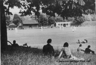 watching cricket at Hemel Hempstead Cricket ground 1949 | Dacorum Heritage Trust