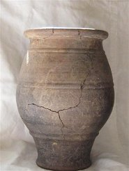 Drinking beaker with cord decoration from burial group 2 of the Aldbury excavations | The Dacorum Heritage Trust Ltd