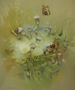 Print of butterflies by Gordon Benningfield, signed by Beningfield purchased by Dacorum Heritage Trust | The Dacorum Heritage Trust