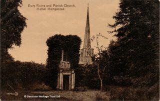 Ruins of Richard Combe's Bury in Gadebridge Park | Roger and Joan Hands
