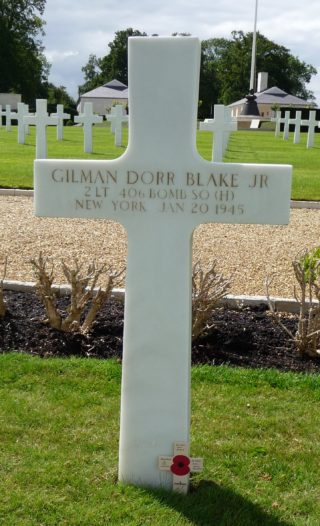 The headstone cross for Gilman Dorr Blake   Photo: Anni Berman
