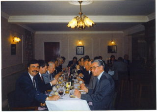 Members enjoy a Christmas dinner in the Club.  There is a resident Steward and social activities are still held today.  The annual Burns night will be celebrated as usual   Roger and Joan Hands