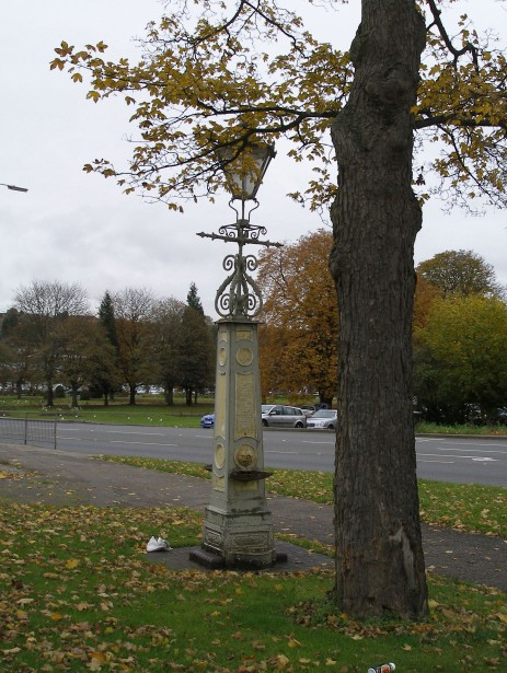 A fountain made by Cranstone, which was later converted to a gas lamp outside Boxmoor Hall. | Joan Hands