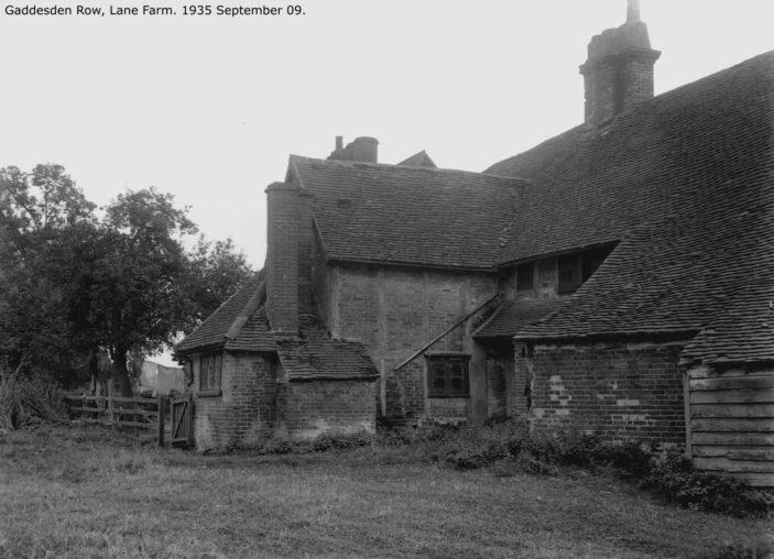 Gaddesden Row, Lane farm 1935 | Hertfordshire Archives and Local Studies