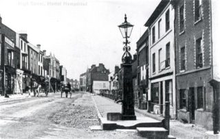 Pump in the old High Street   Hertfordshire Archives and Local Studies