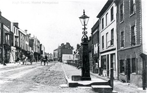 Pump in the old High Street | Hertfordshire Archives and Local Studies