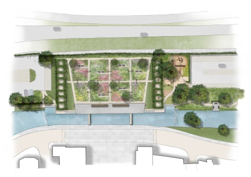 The design for the formal gardens