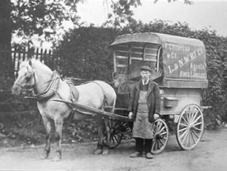 The station was also used for the carriage of goods. This photograph shows Tom Cox operating the local delivery service | Kings Langley Local History and Museum Society