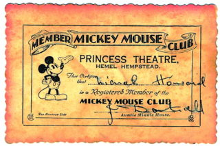 Mickey Mouse Club Card | L.C.Howard