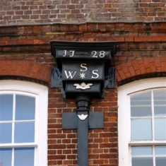 Old decorative downpipe in the High Street | John Newberry