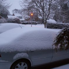 A car covered in snow at Felden in 2007 | Ian Phipps