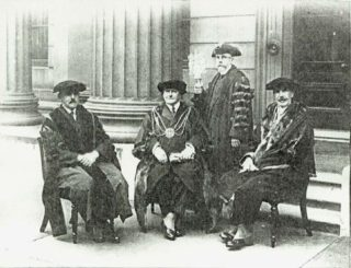 Percy Webster  (seated centre)  in his regalia as  Master of the Worshipful Company of Clockmakers | The Worshipful Company of Clockmakers