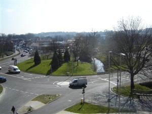 The Plough roundabout today