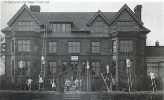 South Hill, Heath Lane, c.1912. Once a private house belonging to Major General William Birkbeck's family and later a private girls' school | Roger and Joan Hands