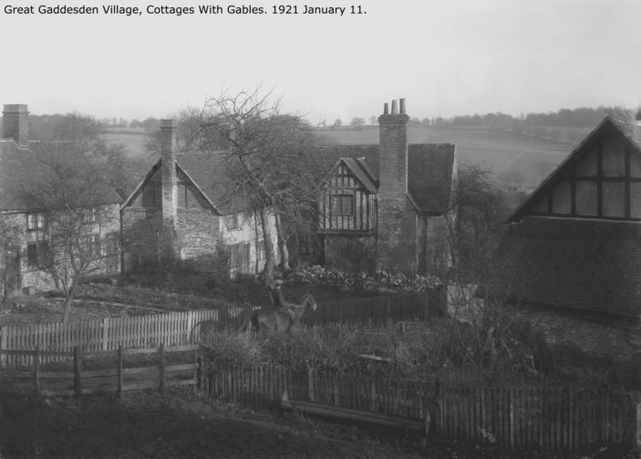 Cottages with Gables - 1921 | Hertfordshire Archives and Local Studies