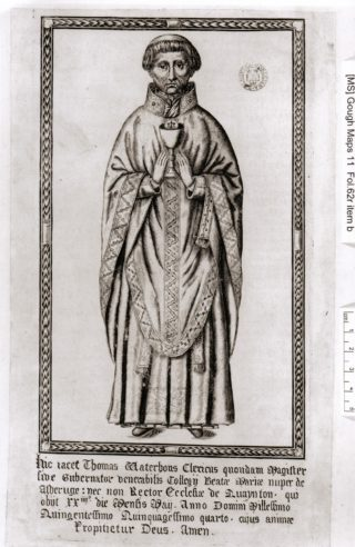 Thomas Waterhouse, last Rector of the College of Bonhommes.  The monastery was dissolved in 1539 | Joan and Roger Hands