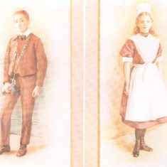 Colour drawing of the Foundling Hospital Uniform | Berkhamsted Local History Society cared for by the Dacorum Heritage Trust