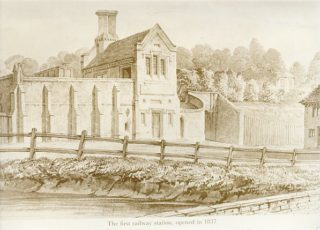 Buckler drawing of first Railway Station at Berkhamsted. (On loan from Berkhamsted Local History and Museum Society) | Berkhamsted Local History and Museum Society cared for by The Dacorum Heritage Trust Ltd