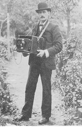 J.T.Newman (1860-1937) with an early portable camera, circa 1890. | Berkhamsted Local History and Museum Society cared for by the Dacorum Heritage Trust