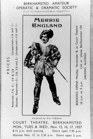 of Programme cover for a performance of