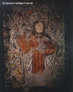 section of the medieval wall painting | Dacorum Heritage Trust
