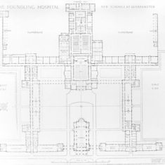 Plan of the Foundling School Hospital, Berkhamsted | Berkhamsted Local History and Museum Society cared for by the Dacorum Heritage Trust