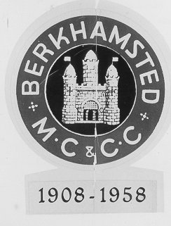 Berkhamsted Motor Cycle and Car Club badge | Berkhamsted Local History and Museum Society cared for by The Dacorum Heritage Trust Ltd