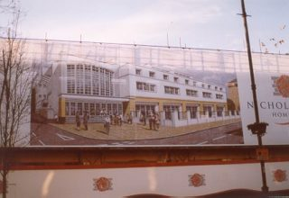 The Rex Parade development-hoarding advert December 2001 | Berkhamsted Local History and Museum Society cared for by the Dacorum Heritage Trust