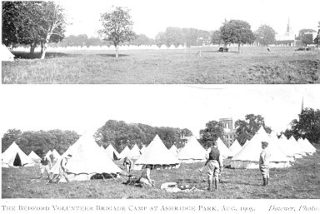 The Bedfordshire Volunteer Brigade camp at Ashridge Park, August 1905. Over 60 tents are visible in this image | Hemel Hempstead Local History and Museum Society cared for by the Dacorum Heritage Trust