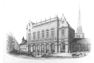 A drawing showing an intermediate building between 1857 and 1861 | Hemel Hempstead Local History and Museum Society cared for by the Dacorum Heritage Trust