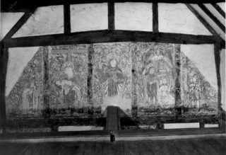 View of the upper paintings, Piccotts End Cottages | Hemel Hempstead Local History and Museum Society cared for by the Dacorum Heritage Trust Ltd