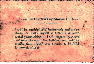 Mickey Mouse Club Creed | L.C.Howard