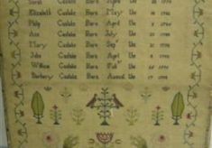 Needlework shows girls in training to be young ladies